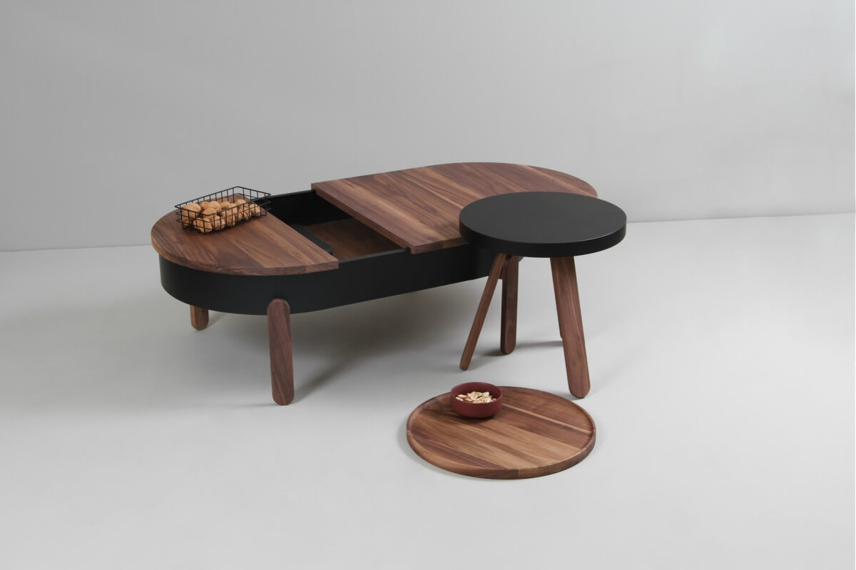 walnut center tables