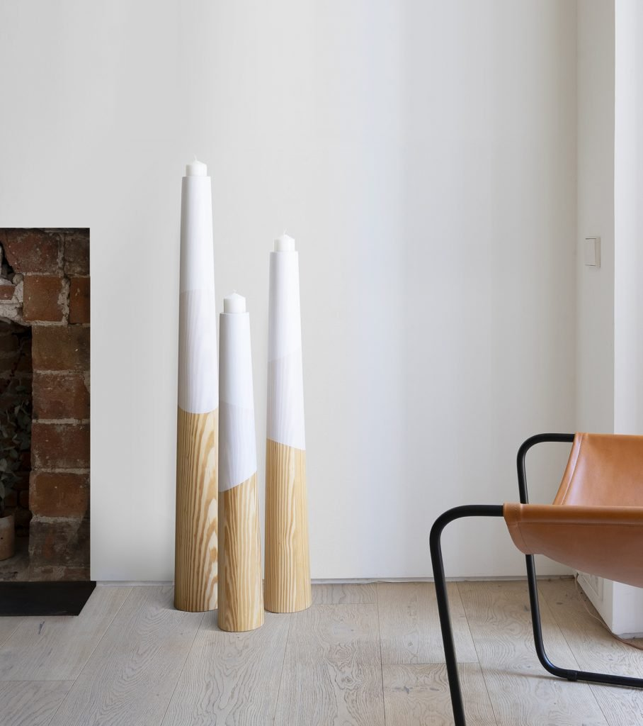 Wood Accessories Minimal Candle Holders