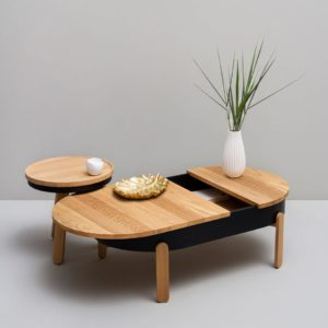 Batea center and side table set wooden furniture