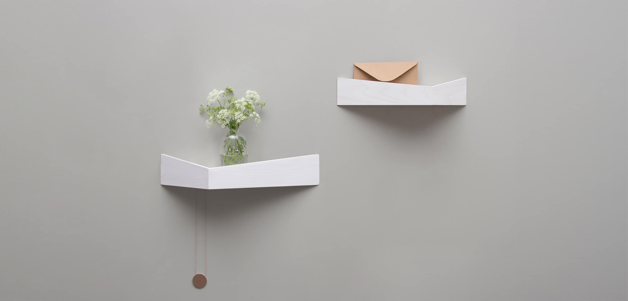 White Pelican Shelves with hidden hooks entrace hall