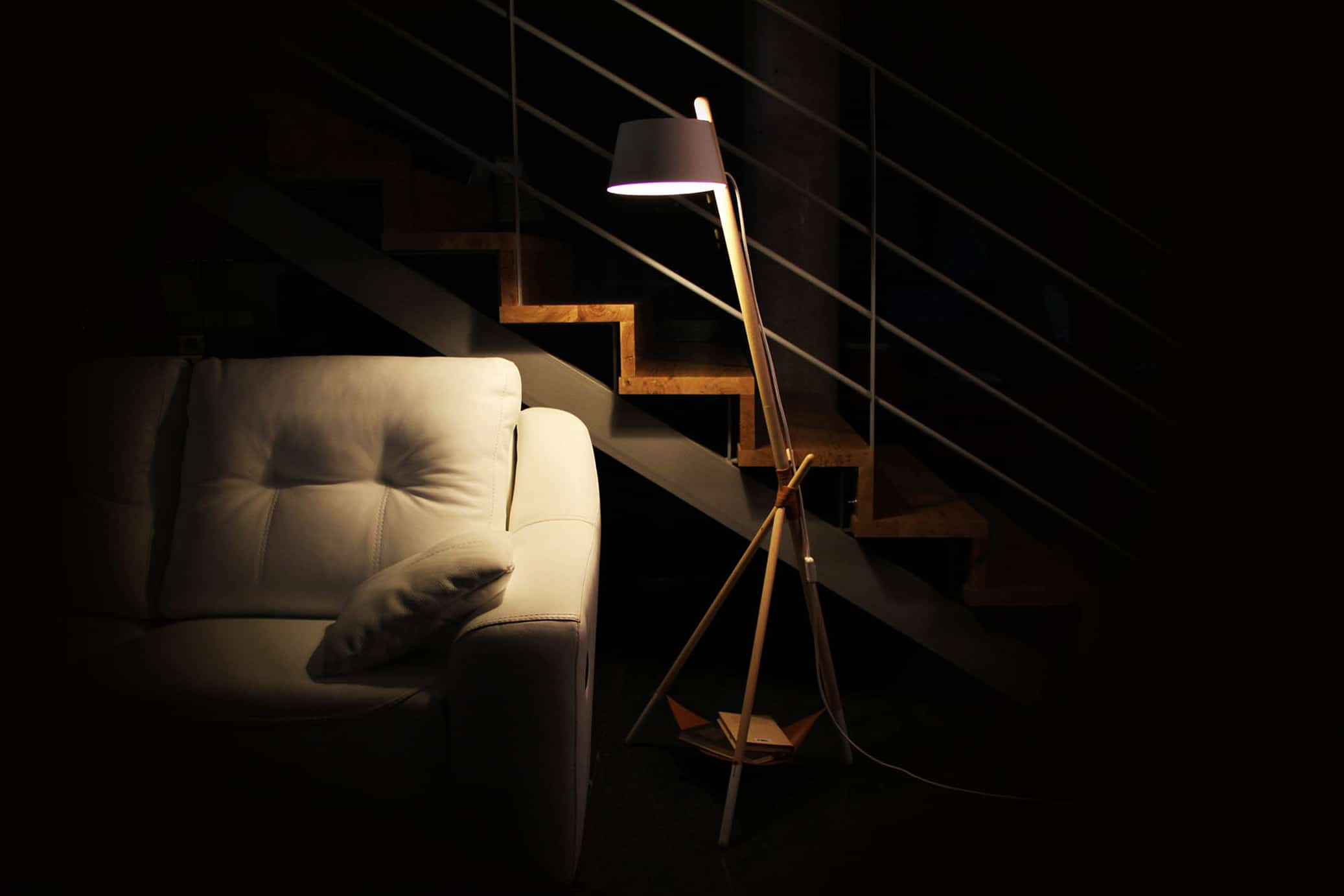 Ka M floor lamp reading living room