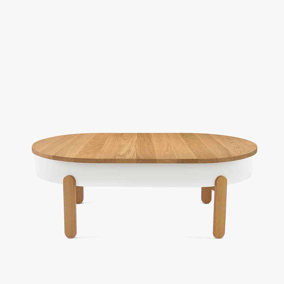 Alba L center table with storage