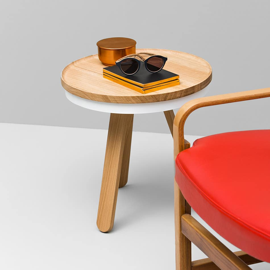 Batea S side table with extra tray